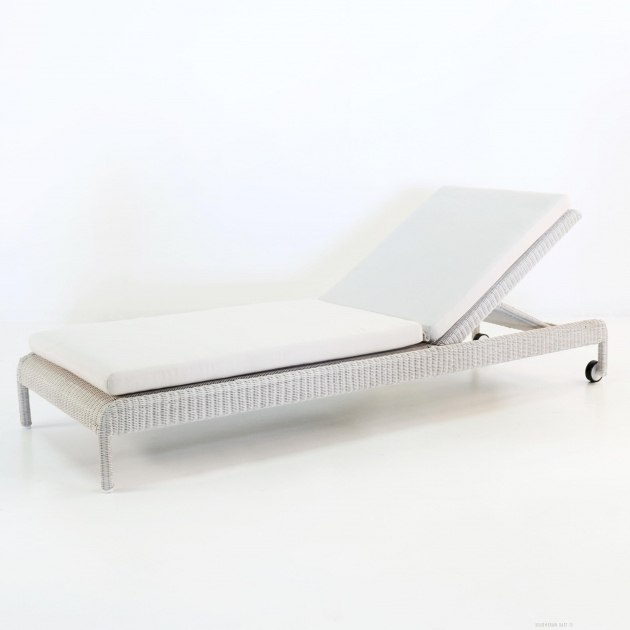 Teak Outdoor White Wicker Chaise Lounge Zambezi Sunbed Photos 71