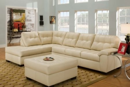 Chaise Lounge Sofa with Ottoman