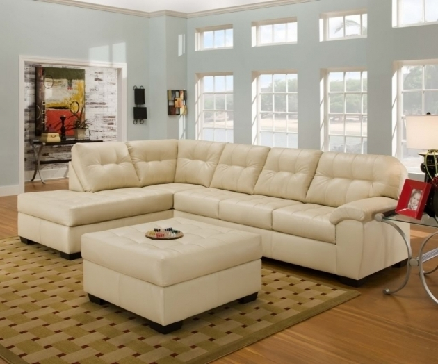 White Sectional Chaise Lounge Sofa With Ottoman Furniture For Home Decor Picture 06