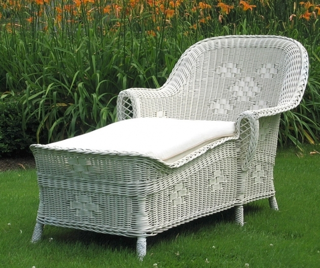 White Wicker Chaise Lounge Design Ideas Images 38