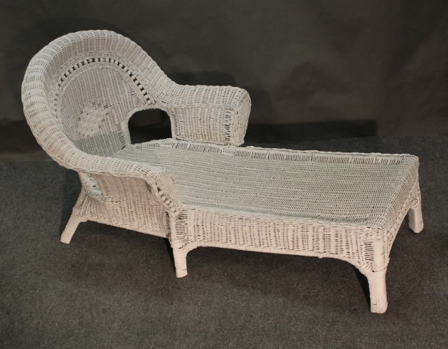 White Wicker Chaise Lounge Furniture Photo 42