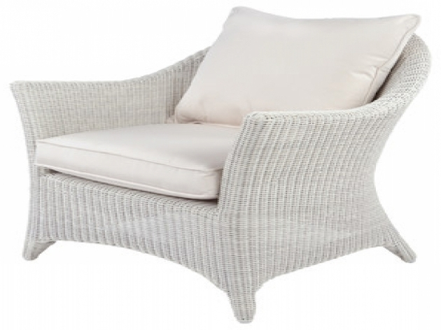 White Wicker Chaise Lounge Outdoor Picture 95