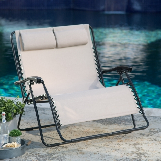 Zero Gravity Chaise Lounge Coral Coast Padded Extra Wide Outdoor Chair  Photo 10