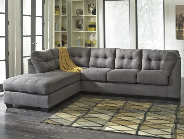 Benchcraft 2 Piece Sectional Sofa With Chaise Maier Charcoal Photos 76