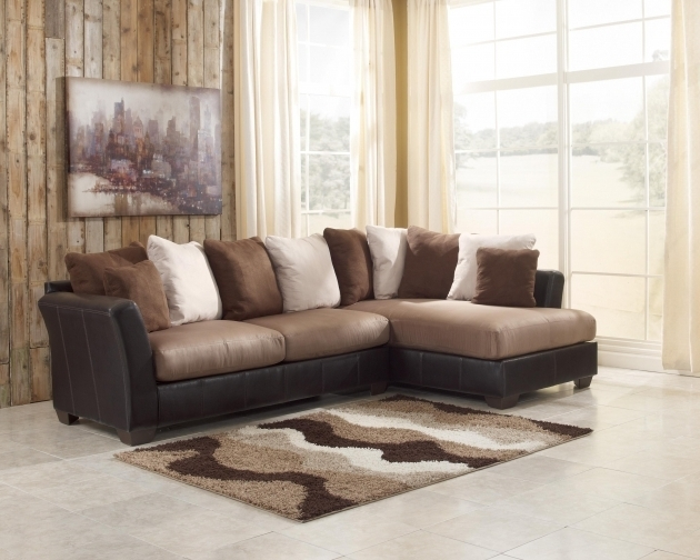 Benchcraft Masoli Mocha 2 Piece Ashley Furniture Sectional Sofa With Chaise Photos 11