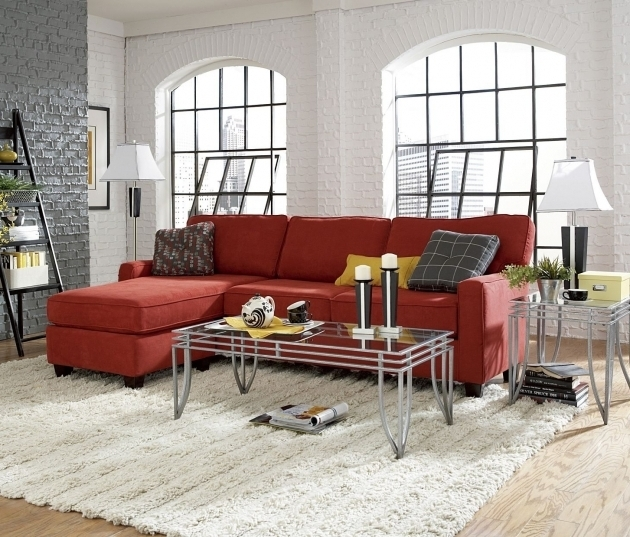 Best Red Sectional Sofa With Chaise Decoration Modern Living Room Image 20