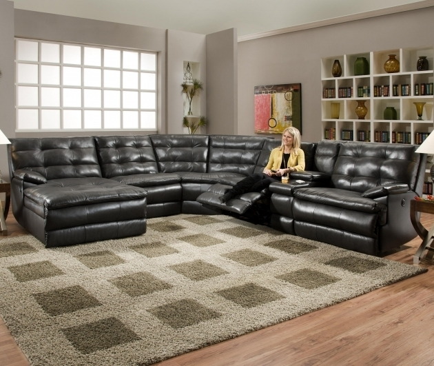 Black Leather Sectional With Chaise And Recliner Ideas Pictures 47