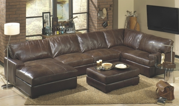 BrownLeather Sectional With Chaise And Recliner Design Pictures 55