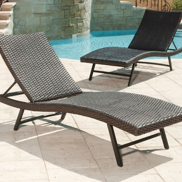 Cheap Outdoor Chaise Lounge Chairs Cavalier Synthetic Wicker Patio Lounge Chair Photo 46