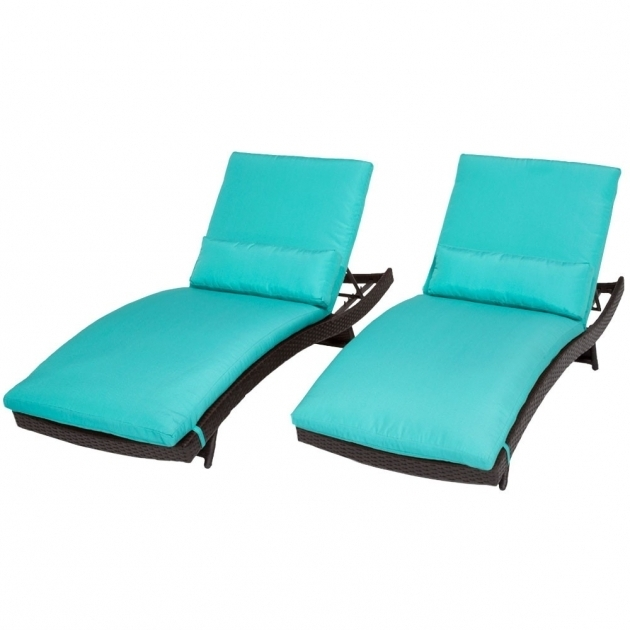 Classics Bali Wicker Turquoise Chaise Lounge Photo 80