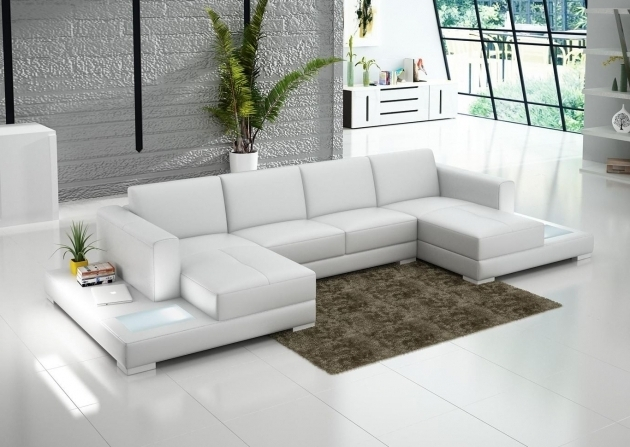 COntemporary White Double Chaise Sectional Sofa Scene Iii Photos 48