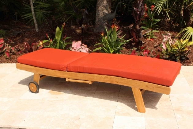Curve Sunbrella Terracotta Chaise Lounge Cushions On Sale Photos 85