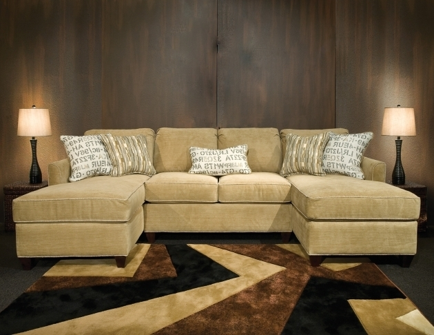 Double Chaise Sectional Sofa Leather For Living Room Picture 84