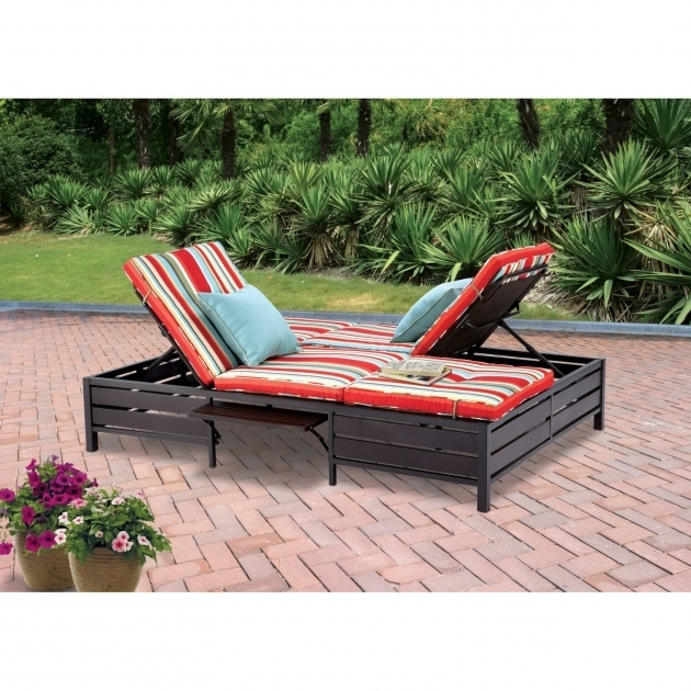 Double Outdoor Chaise Lounge Clearance Stripe Seats Photos 23
