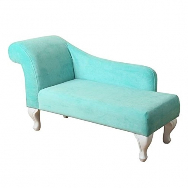HTurquoise Chaise Lounge Homepop Juvenile Chaise Lounge In Aqua Turquoise Velvet  Picture 57