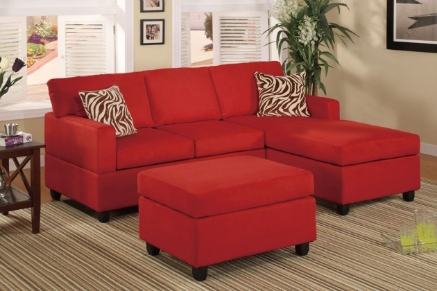 Leather Red Sectional Sofa With Chaise Picture 10