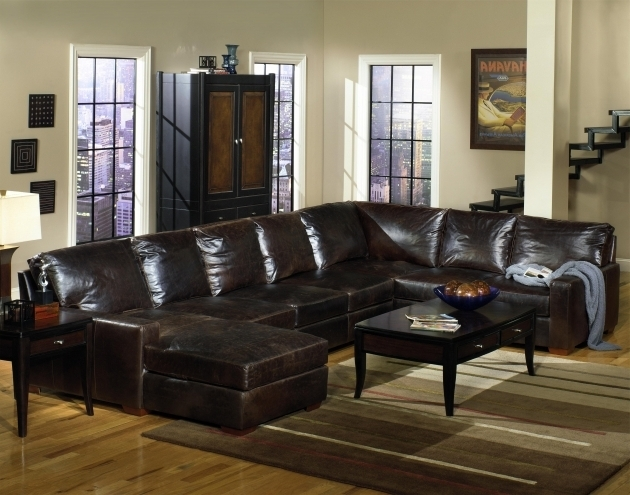Leather Sectional With Chaise And Recliner With Black Coffee Table Photo 41