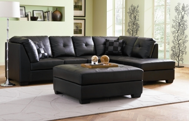 Leather Sectional With Chaise Lounge Black Small For Minimalist Living Room  Photo 81