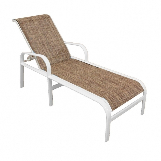 Patio chaise marco island white grade for Allen roth tenbrook extruded aluminum patio chaise lounge