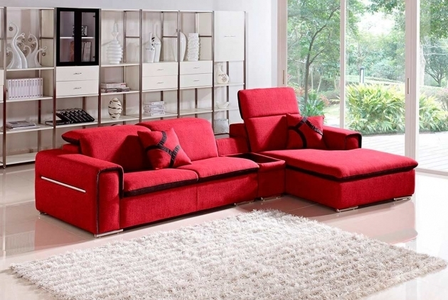 Modern Fabric Red Sectional Sofa With Chaise Vg201 Images 33