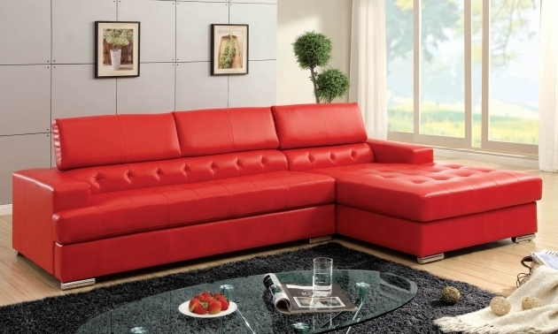 Modern Red Sectional Sofa With Chaise Picture 07