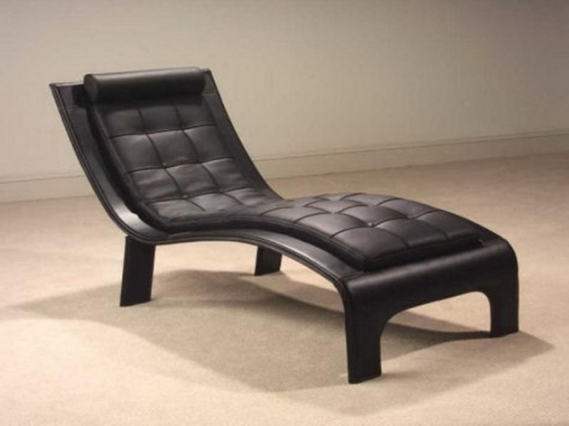 Modern Tropical Small Chaise Lounge Chair For Bedrooms Black Padded Panel Cushion Photos 99
