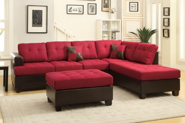 Moss Carmine Fabric Red Sectional Sofa With Chaise And Ottoman Photos 65