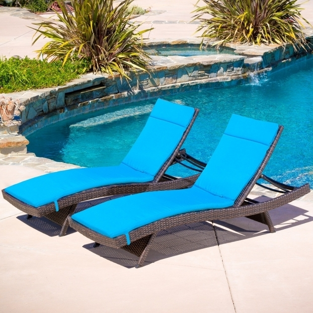 Outdoor Pool Chaise Lounge Replacement Cushions Blue Commercial Images 65 White Sunbrella