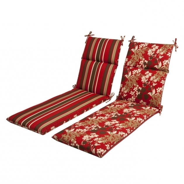 Outdoor Red Brown Reversible Chaise Lounge Cushions Clearance Image 74
