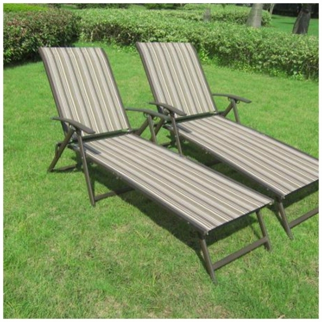 Patio Outdoor Sling Chaise Lounge Chair Set Of 2 Furniture Pool Recliner Lounger Photos 99