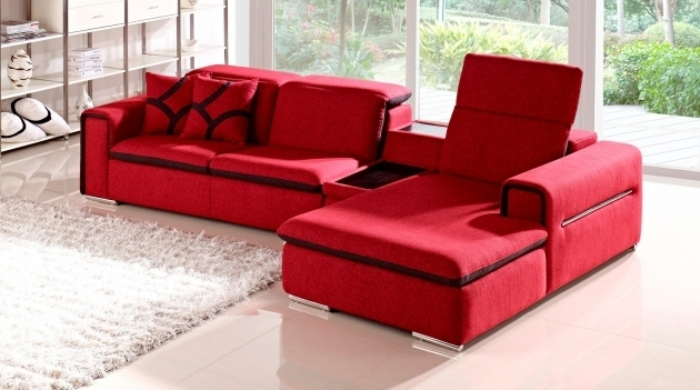Red Indigo Fabric Red Sectional Sofa With Chaise With Table And Storage Photos 58