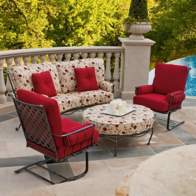 Red Outdoor Furniture Chair Cheap Chaise Lounge Cushions Set Images 20