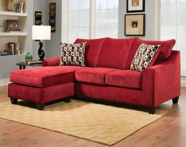 Red Sectional Sofa With Chaise Chenille Couch Elizabeth Crimson Two Piece Pictures 00