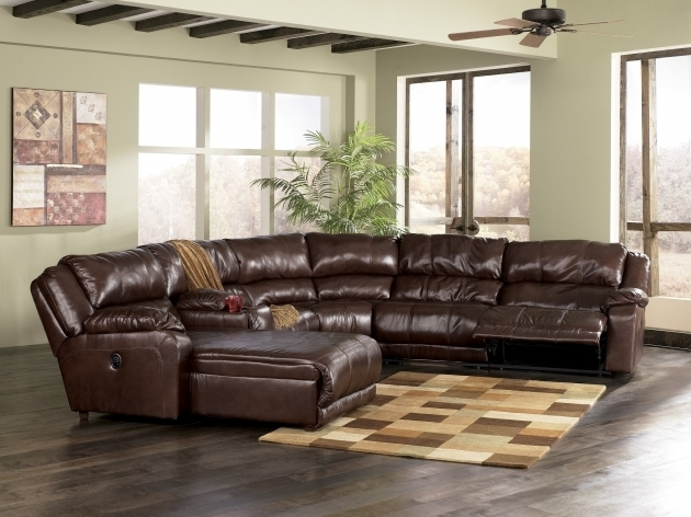 Sleek Leather Sectional With Chaise And Recliner In Chocolate Color Images 30