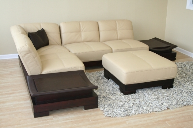 Small Leather Sectional With Chaise Lounge Living Room Two Tones Photo 96