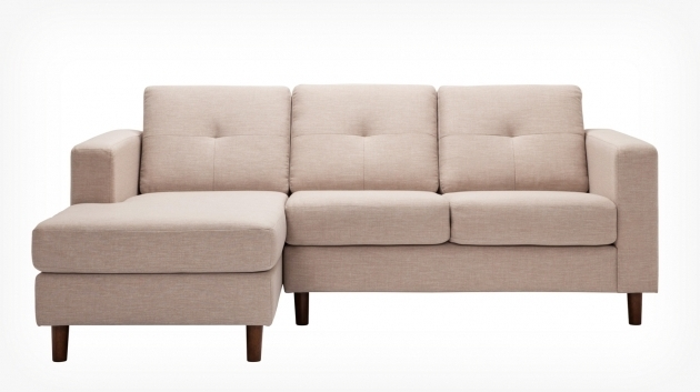 Solo 2 Piece Sectional Sofa With Chaise Key Largo Almond Front Picture 37