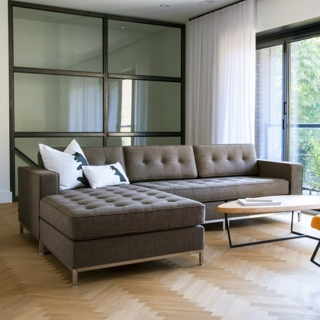 Tufted Sectional Sofa With Chaise Furniture And Decorative Pillows Also Narrow Coffee Table Photo 43