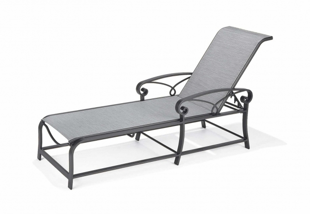 Winston Palazzo Aluminum Sling Chaise Lounge Chair With Arm Image 77