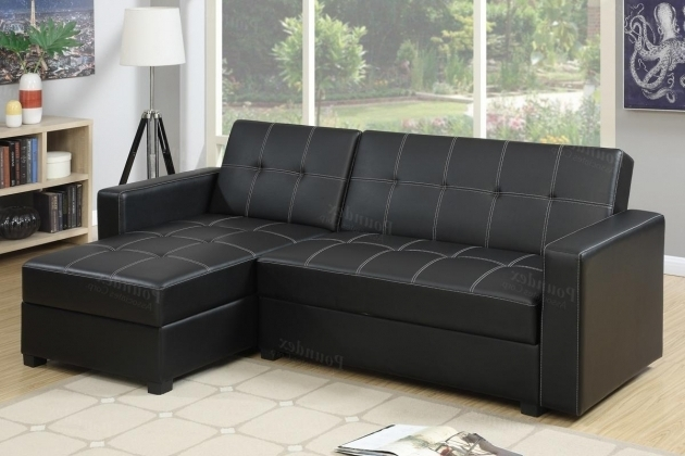 Amala Black Leather Sectional With Chaise Bed Pictures 83