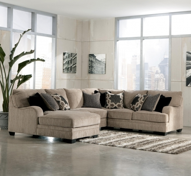 Ashley Katisha Platinum 4 Piece Sectional Sofa With Chaise Pictures 57