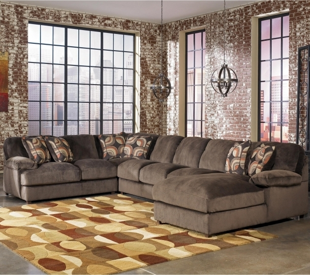 Ashley Truscotti 4 Piece Sectional Sofa With Chaise Contemporary Images 01