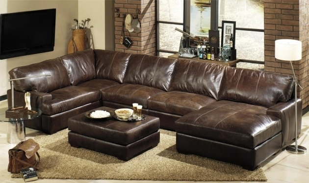 Best Brown Leather Sectional With Chaise Ideas Photos 71