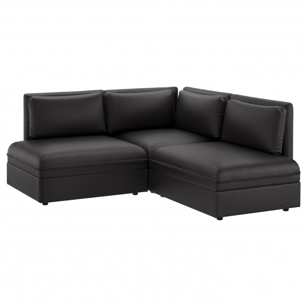 Black Faux Leather Sectional With Chaise Ikea Small  Pictures 80