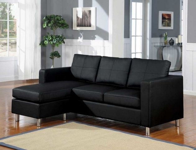 Black Leather Sectional With Chaise Living Rooms Image 64