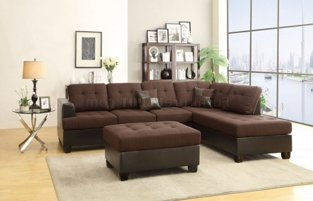Brown Fabric Microsuede Microfiber Sectional Sofa With Chaise Images 41