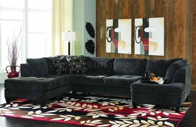 Charcoal Gray Fabric Sectional Sofas With Chaise Contemporary Double Ideas Photo 73