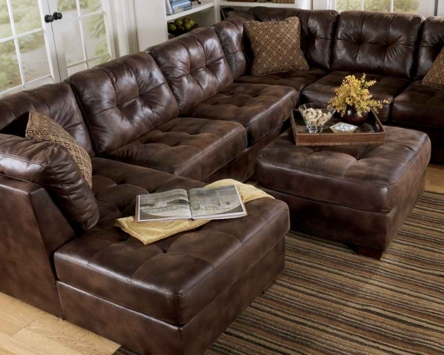 Chocolate Brown Leather Sectional With Chaise Ideas Photos 84