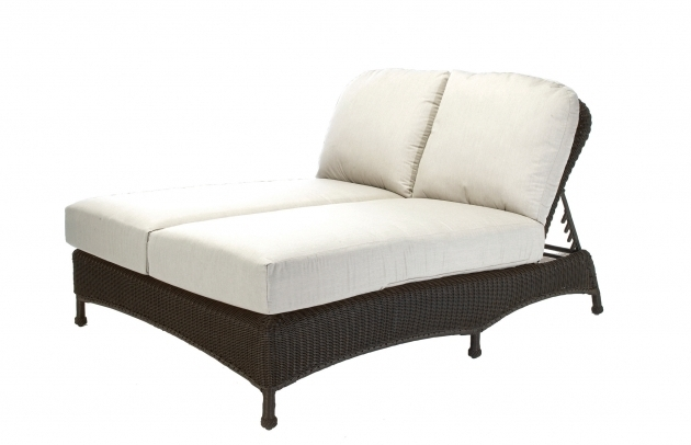 Classic Wicker Double Chaise Lounge Cushions For Patio Furniture Ideas Picture 56