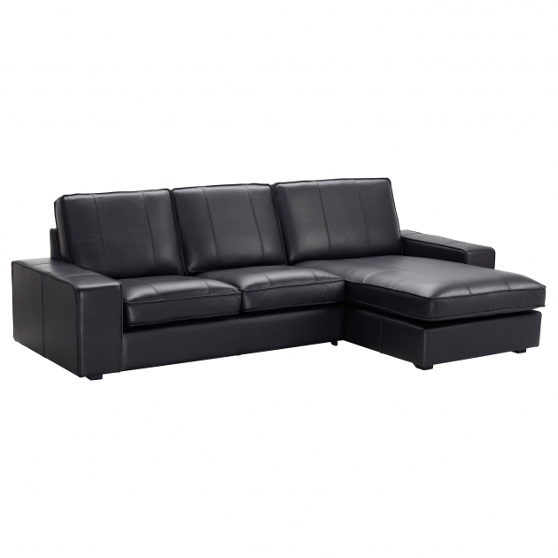 Coated fabric sofas leather couch with chaise ikea photo - Canape cuir ikea ...