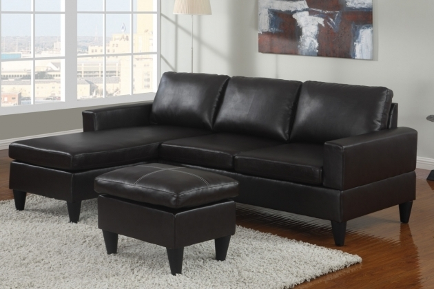 Italian Black Leather Sectional With Chaise With Ottoman Image 44
